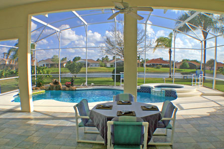 West palm beach pool home plans floor plan coastal house Golf course house plans