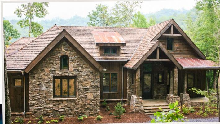 Balsam mtn lodge house plan for ranch style rustic mountan for Rustic style house plans