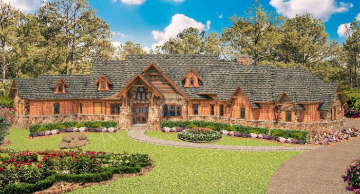 Kettle Creek Ranch House Plan Ranch Luxury Rustic Mountain