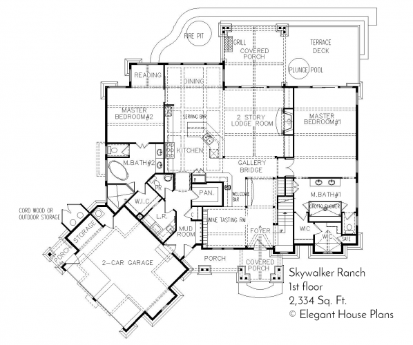Floor Plans, Architectural Drawings Blueprints from Elegant House Plans
