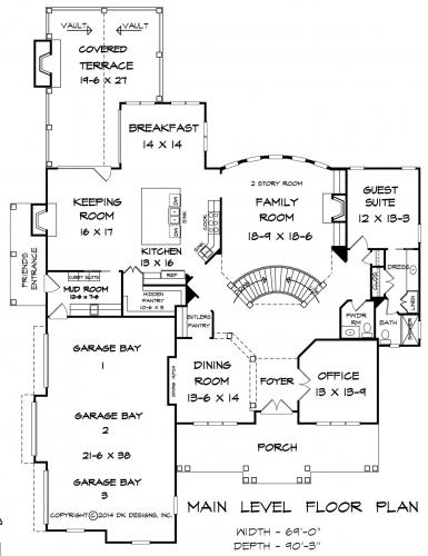 First Floor Plan Marion Manor House Plan